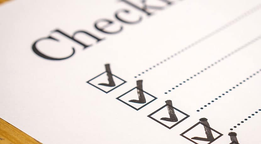 HIPPA Compliance Checklist with boxes