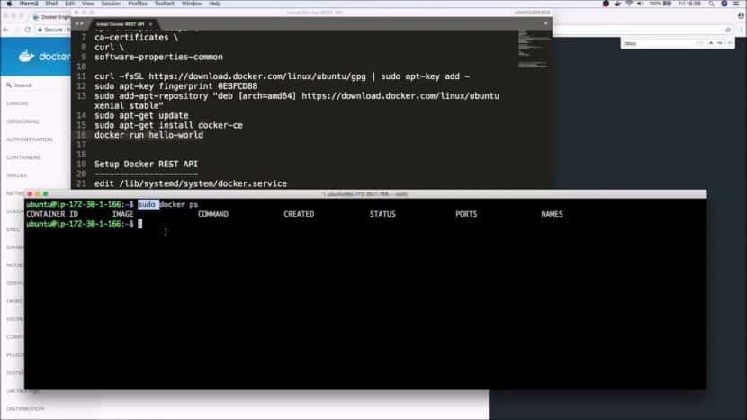 Docker API dashboard