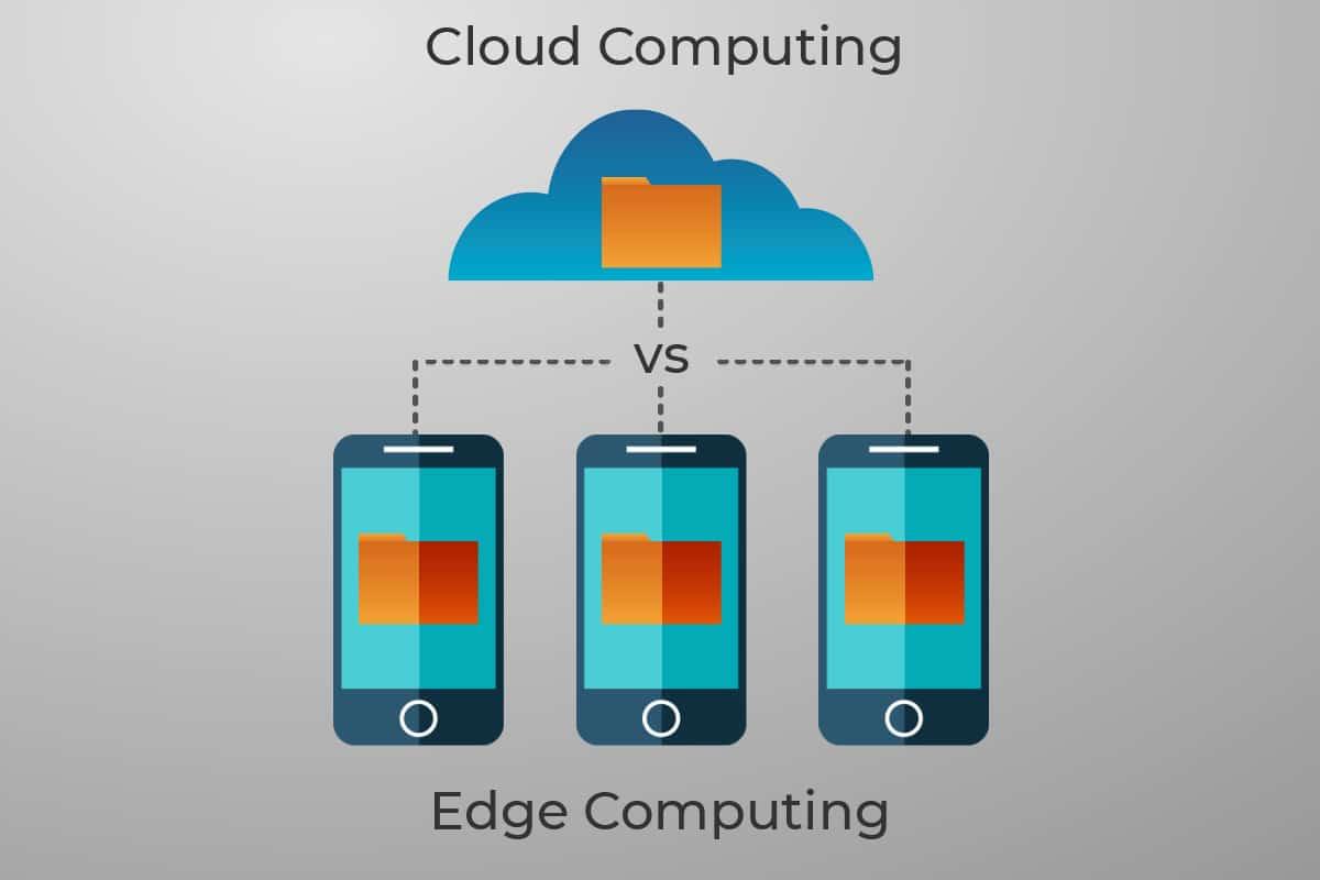 diagram comparing edge and cloud computing