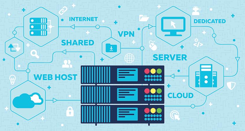 dedicated server hosting diagram