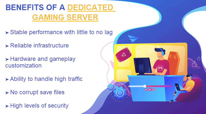 Benefits of a dedicated gaming server