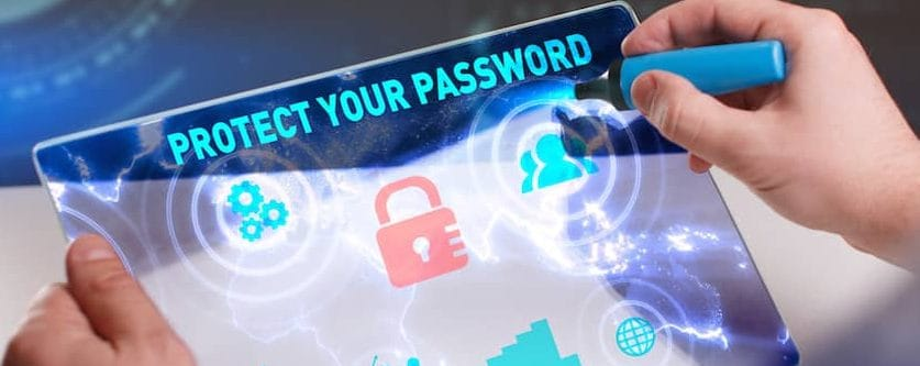 enterprise password managers his data on a tablet device