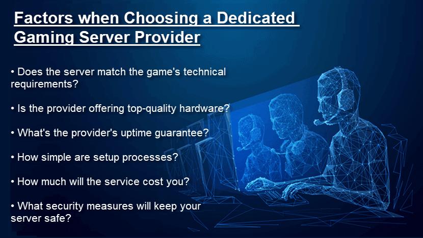 Choosing the right dedicated gaming server