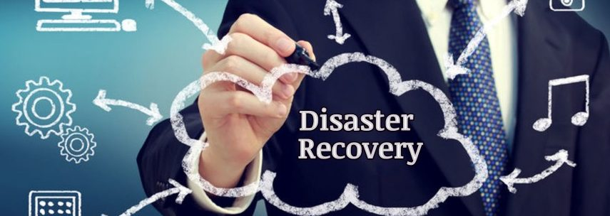 man drawing an image of a cloud with the words disaster recovery