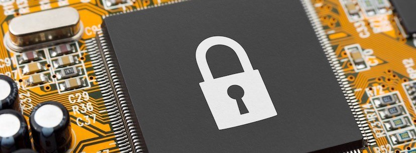 locked computer system against network security threats