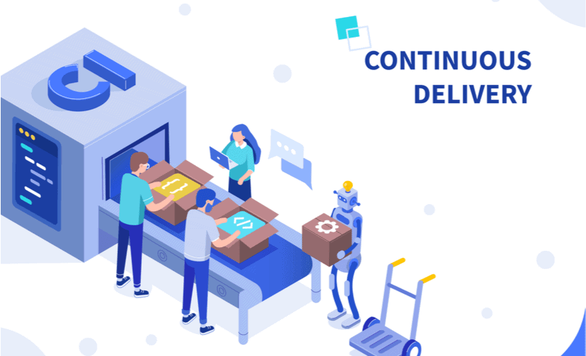 Continuous delivery automates the code release process.