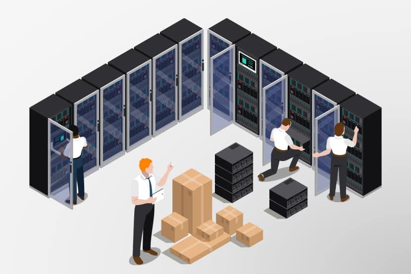 graphic of a data center move