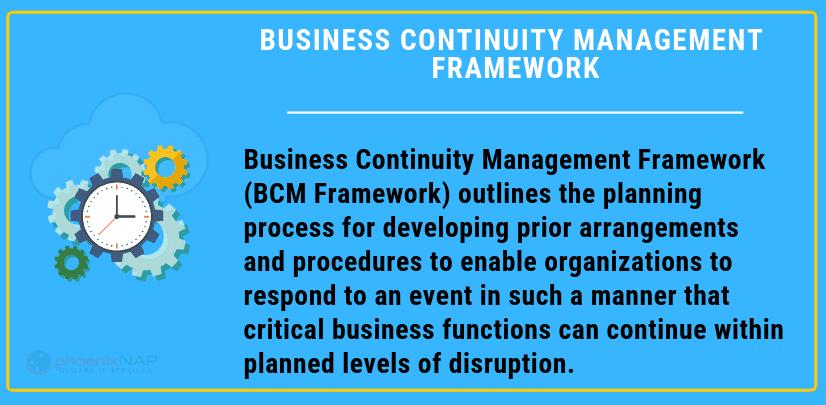 business continuity management framework definition