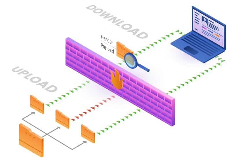 diagram of how a firewall works