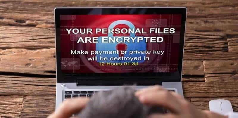 security threat of ransomware encrypting your files and holding them hostage