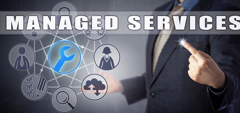 man pointing to managed server services