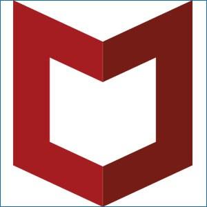 McAfee company logo.