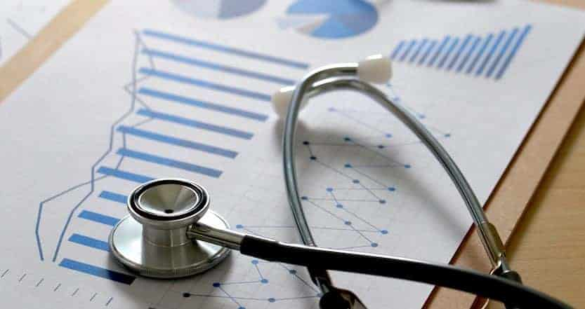 patients medical records and chart being audited