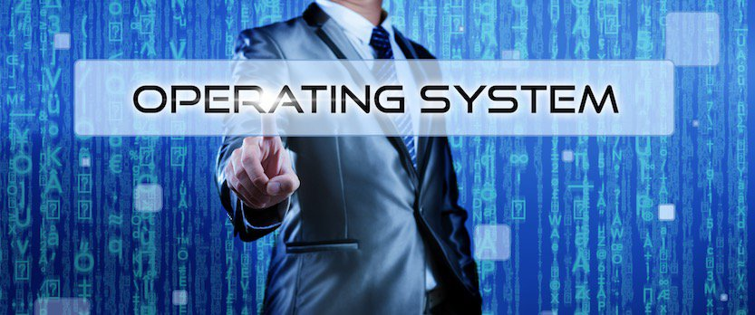 businessman selecting a server operating system