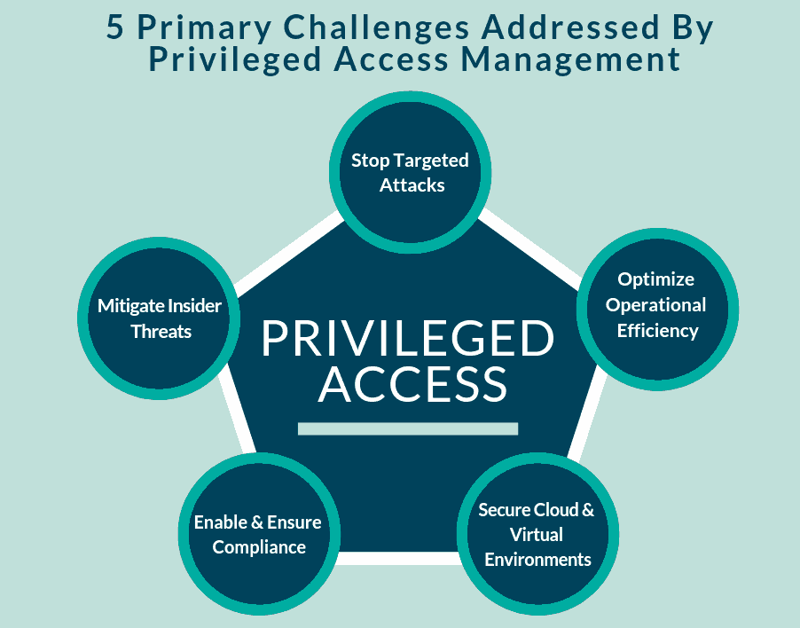 chart of Privileged Access security challenges