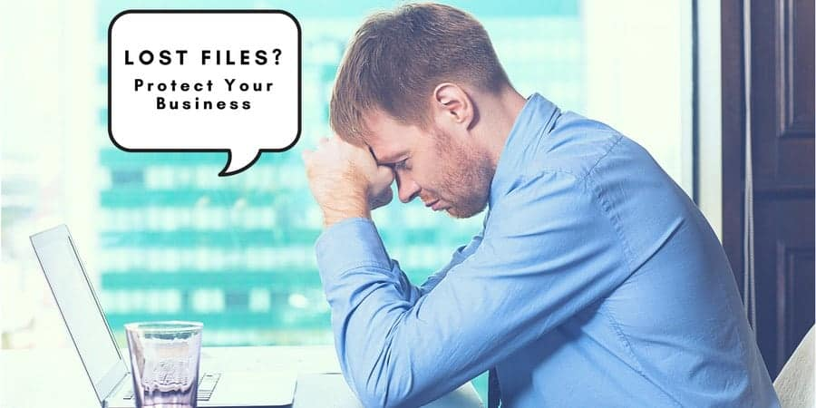 man considering a Data Backup Strategy