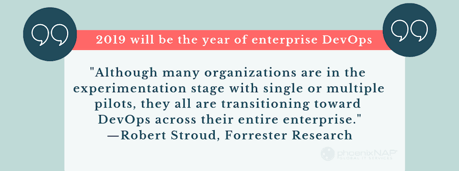 quote on the growth of enterprise devsecops and security