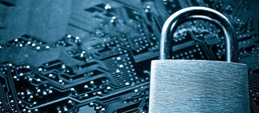 lock on a circuit board