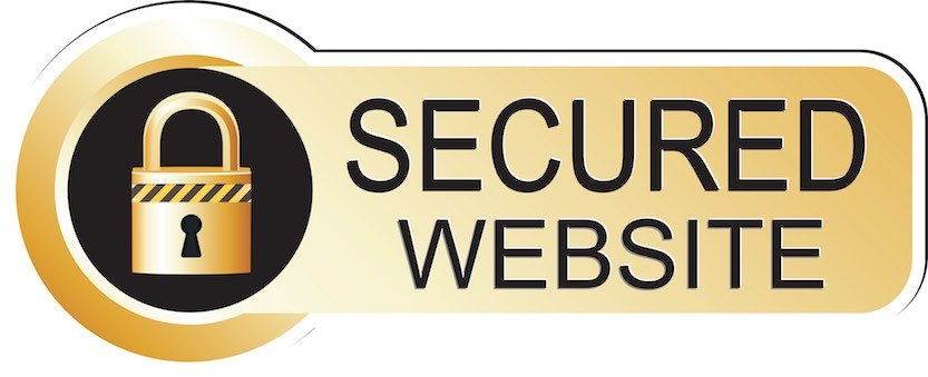 website security with a lock