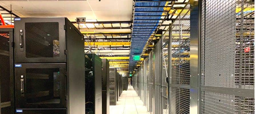 data center power server room with wiring example