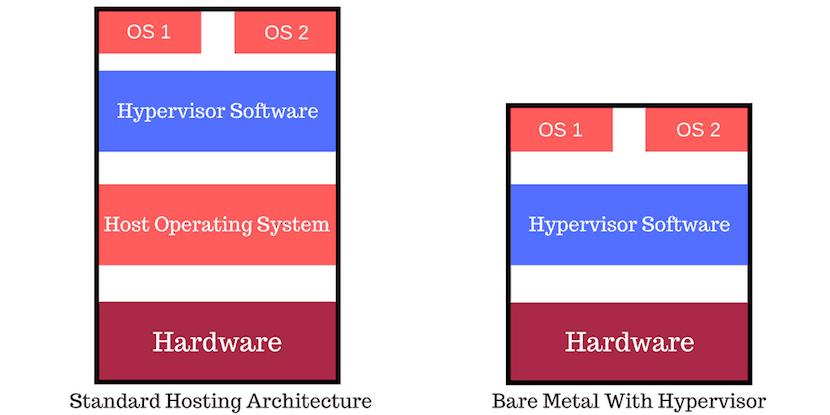 type 1 bare metal hypervisor vs standard hosting