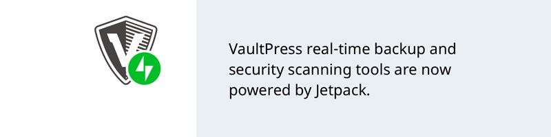 VaultPress real time backup