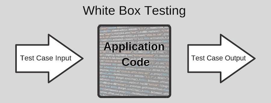 diagram of white box testing application code
