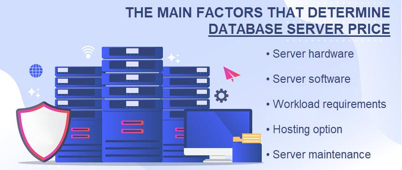 Database server price factors