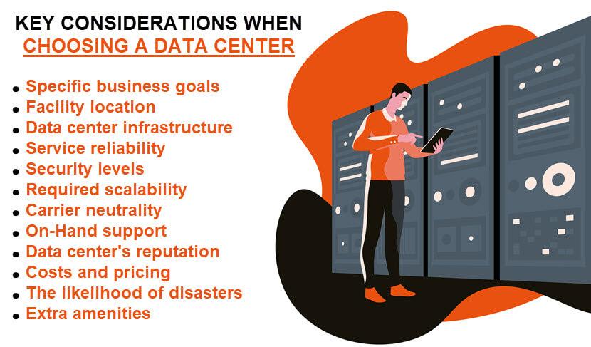 Main factors for choosing a data center