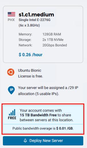 BMC Free 15 TB Bandwidth