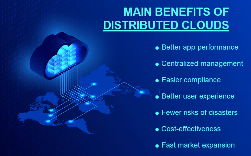 Main benefits of distributed clouds