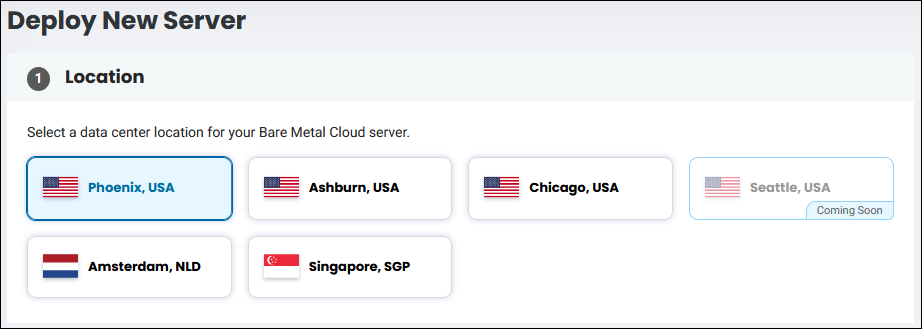 BMC deploy server location selection