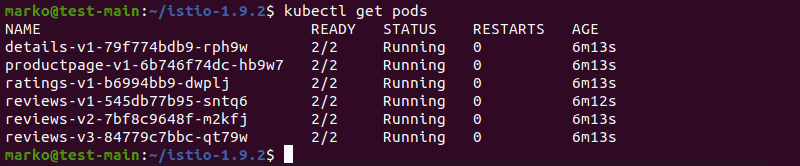 Checking active pods using kubectl
