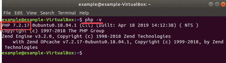 verification PHP 7.2 was installed successfully on Ubuntu
