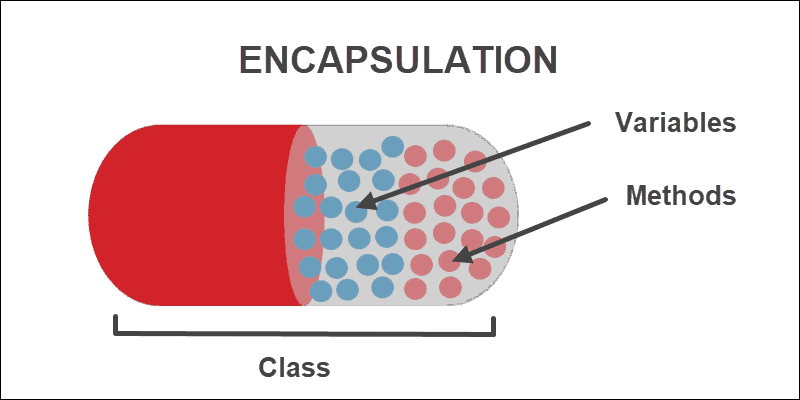 Encapsulation illustration with capsule