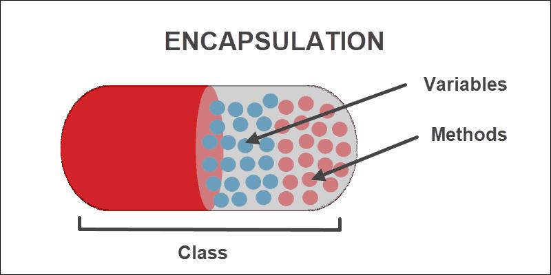 Encapsulation illustration with capsule