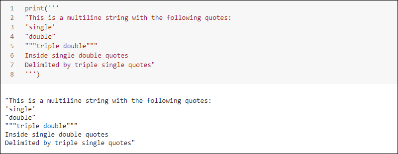 Multiline string with triple single quote delimiters