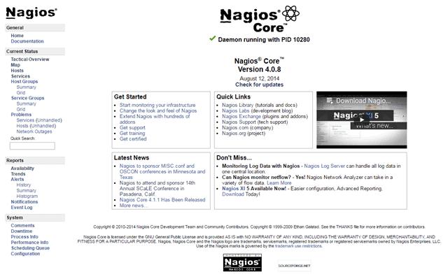 Nagios Core open-source version 4