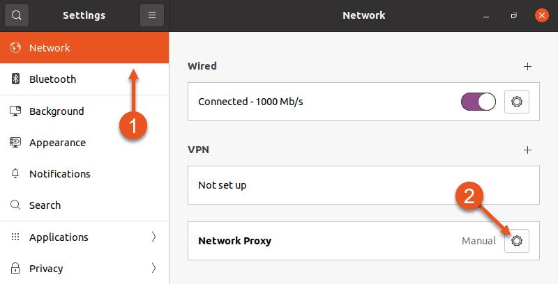 Accessing proxy settings in Ubuntu GUI