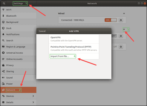 Add OpenVPN to networks on Ubuntu.