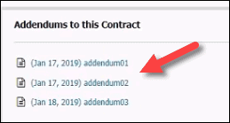 contract addendums in pncp