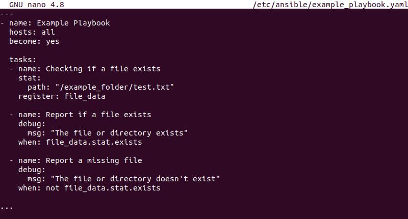 Ansible satt module playbook template
