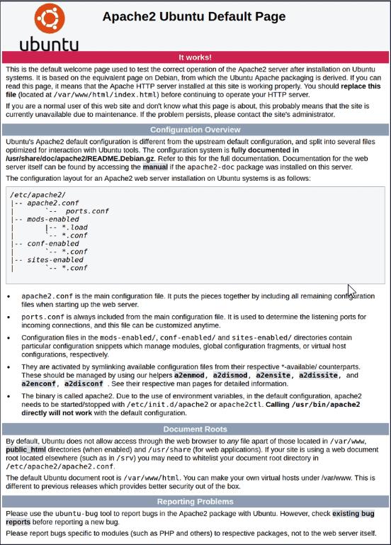Default Apache Ubuntu page.