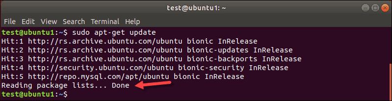 apt-get update terminal output