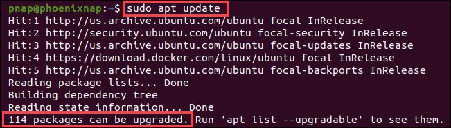 Update package repository and see how many package are ready for upgrading.