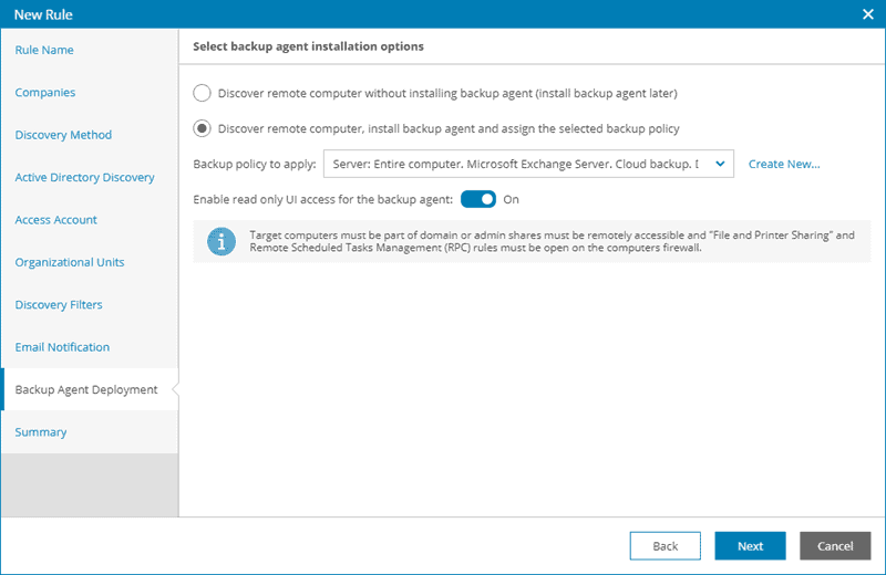 veeam backup agent deployment