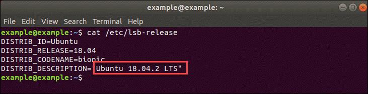 cat /etc/lsb/release
