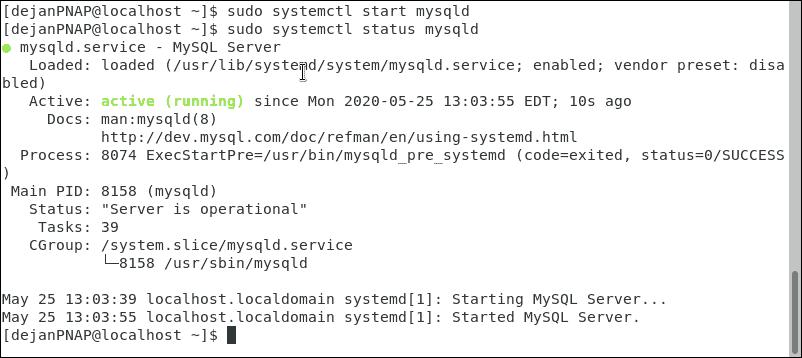Check whether MySQL service is running.