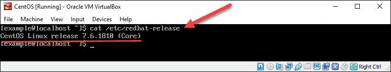 check red hat version in release file