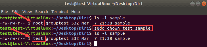 Change the owner of the file with chown command.